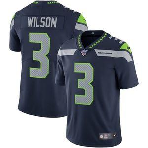 Men's Seattle Seahawks 3 Russell Wilson 100 Jersey